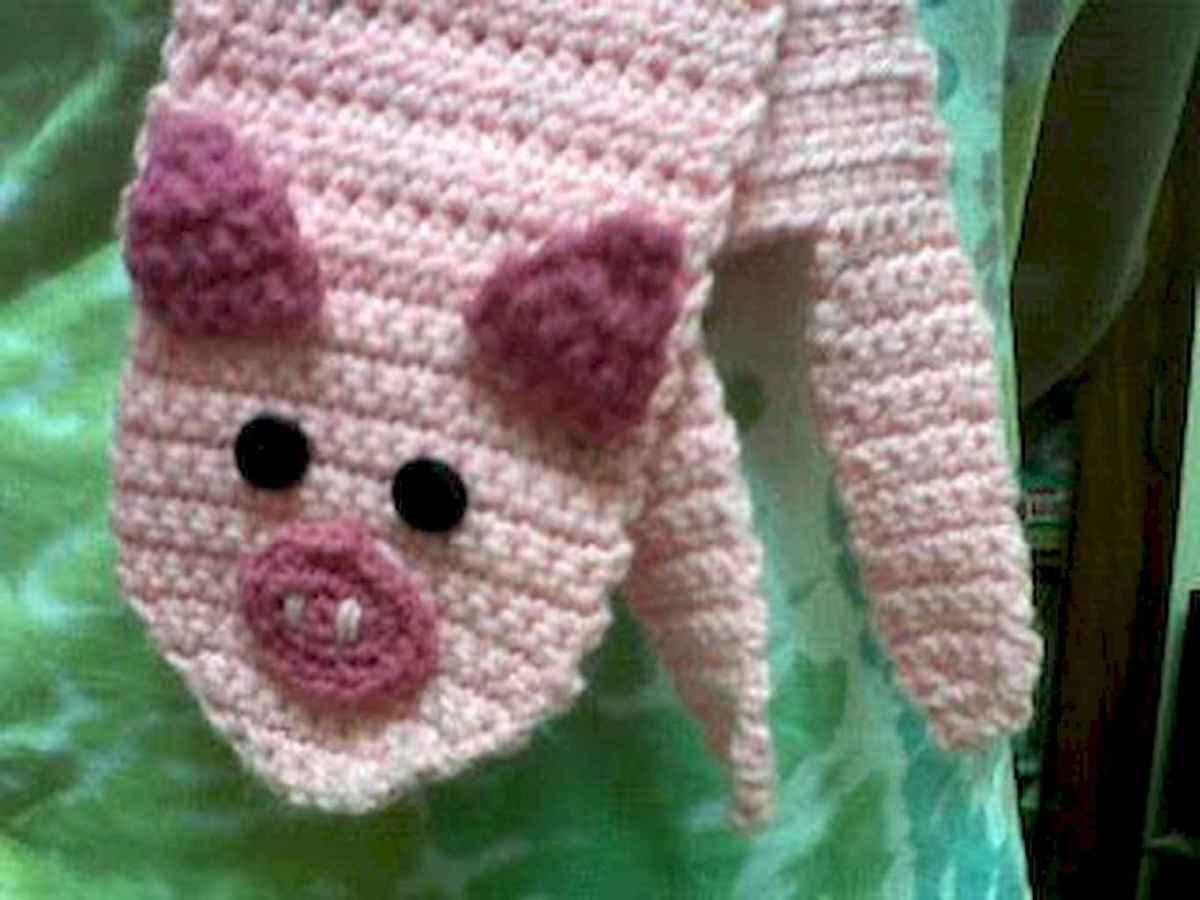 50 easy diy crochet animal scarf ideas for beginner (10)