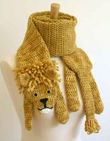 50 easy diy crochet animal scarf ideas for beginner (12)