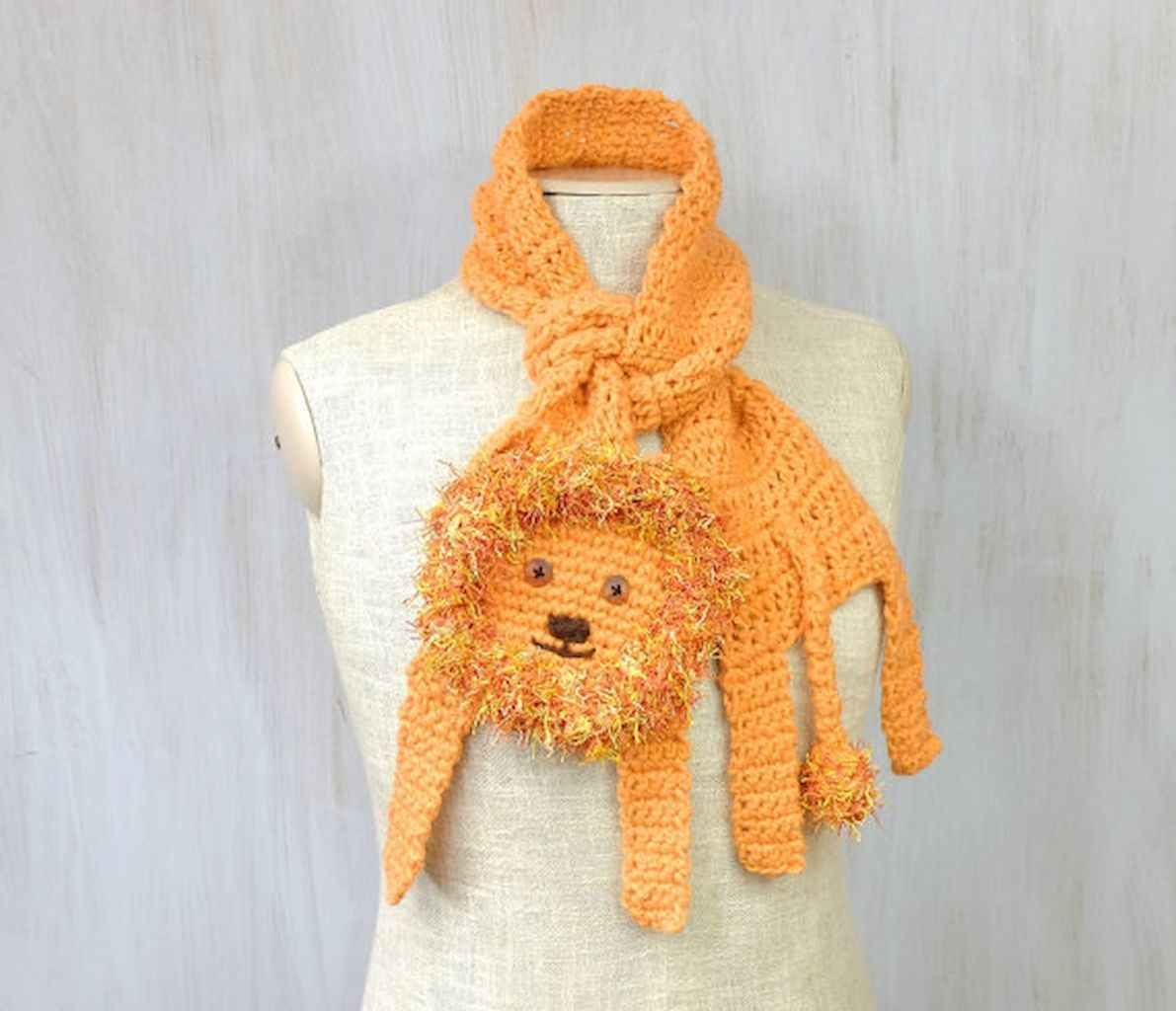 50 easy diy crochet animal scarf ideas for beginner (23)