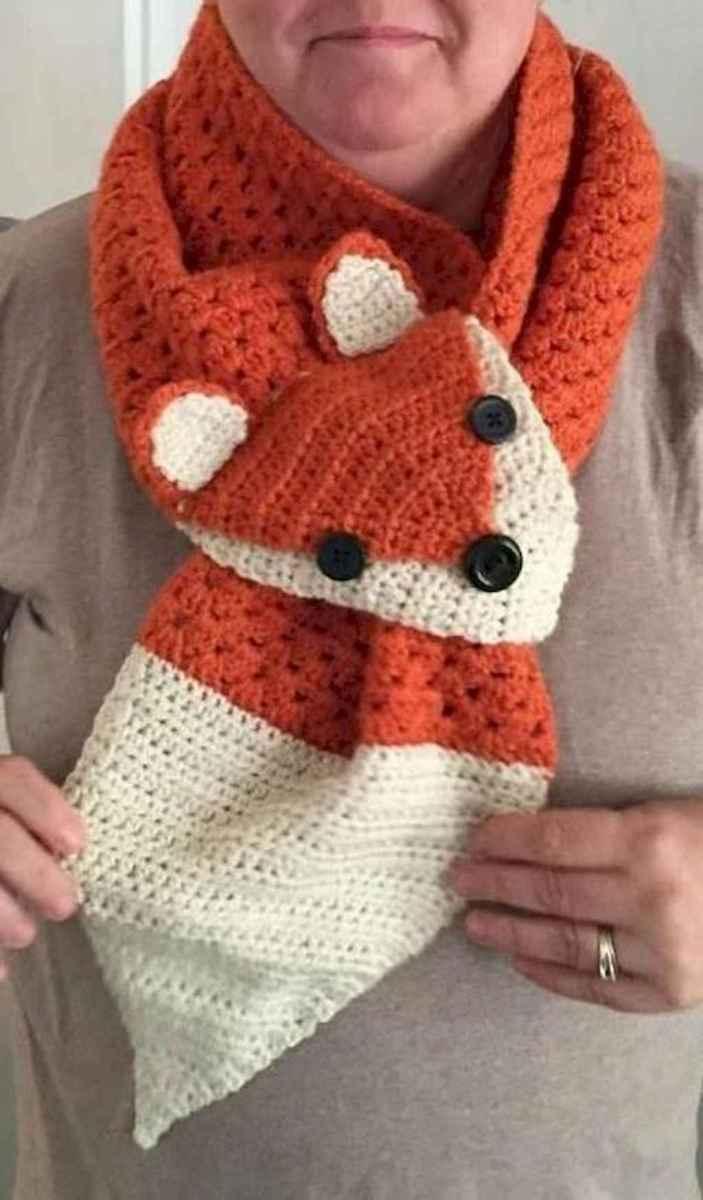 50 easy diy crochet animal scarf ideas for beginner (3)