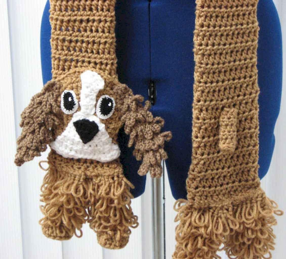 50 easy diy crochet animal scarf ideas for beginner (34)