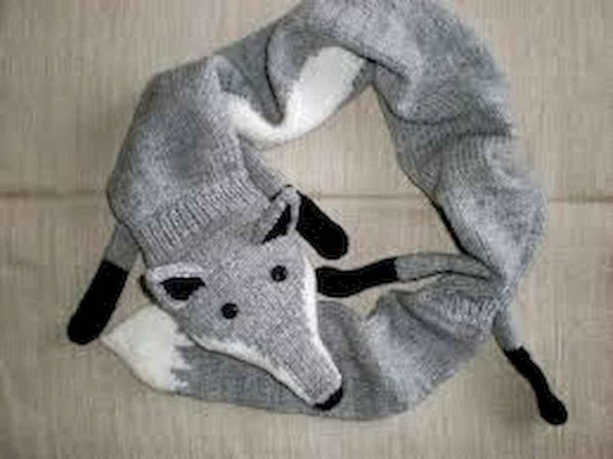 50 easy diy crochet animal scarf ideas for beginner (39)