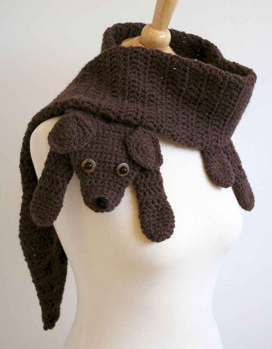 50 easy diy crochet animal scarf ideas for beginner (41)
