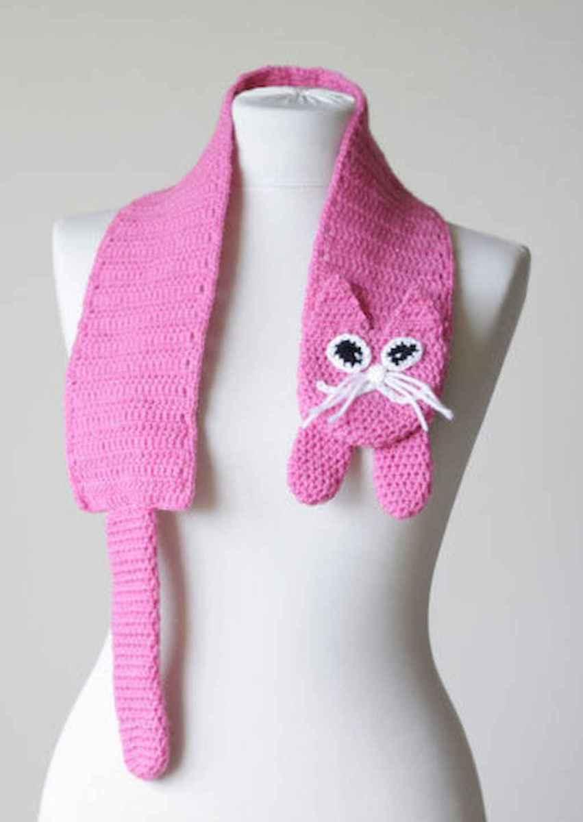 50 easy diy crochet animal scarf ideas for beginner (44)