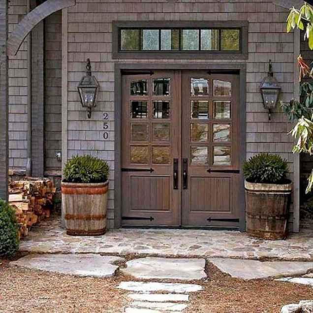 60 rustic farmhouse exterior decor ideas (56)