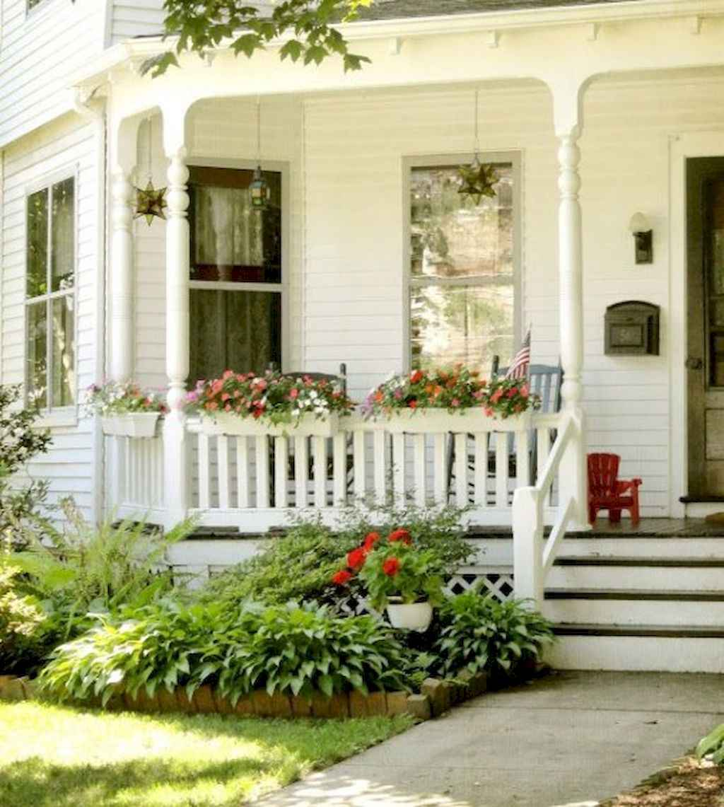 65 stunning farmhouse porch railing decor ideas (13)