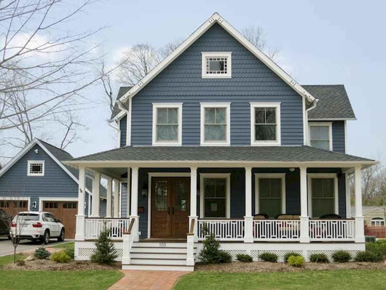 Excellent Stunning Farmhouse Porch Railing Decor Ideas With