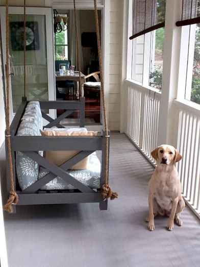 65 stunning farmhouse porch railing decor ideas (28)