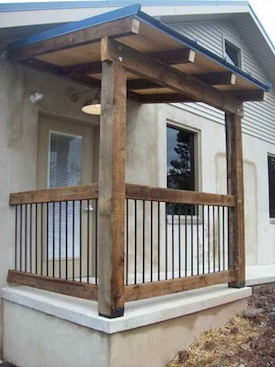 65 stunning farmhouse porch railing decor ideas (50)