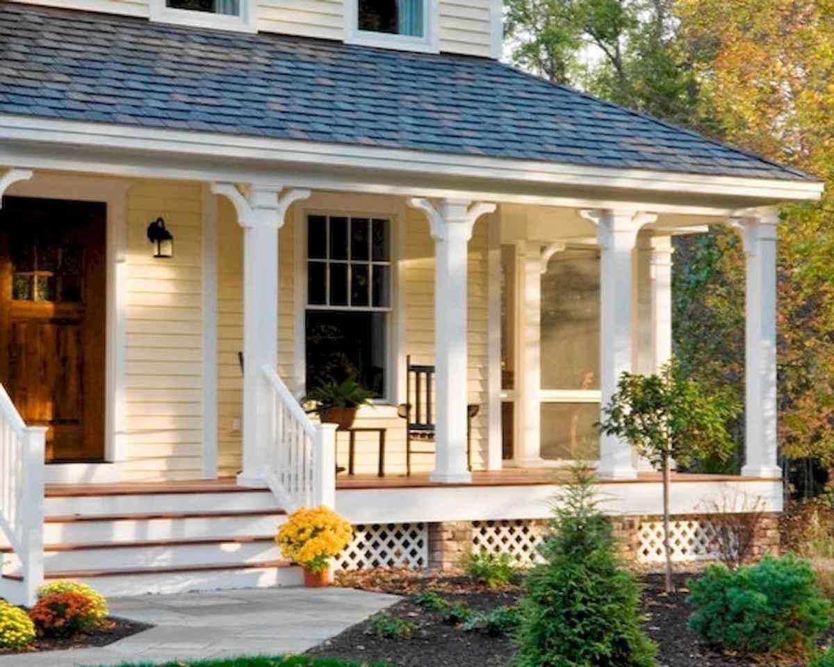65 stunning farmhouse porch railing decor ideas (58)