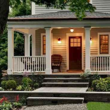 65 stunning farmhouse porch railing decor ideas (63)