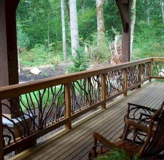 65 stunning farmhouse porch railing decor ideas (65)