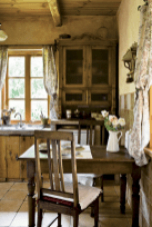 70 pretty farmhouse kitchen curtains decor ideas (29)
