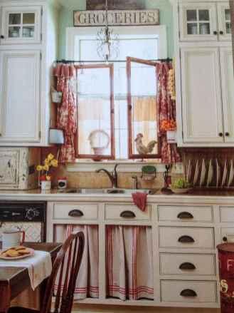 70 pretty farmhouse kitchen curtains decor ideas (64)