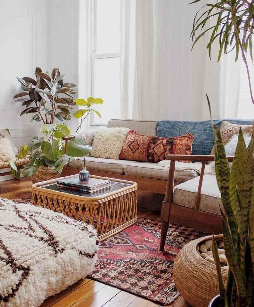 88 beautiful apartment living room decor ideas with boho style (103)