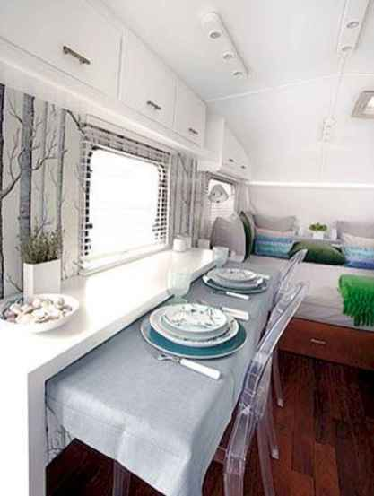 90 Modern RV Living Remodel Travel Trailers Ideas - Roomadness.com