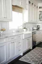 Best 100 white kitchen cabinets decor ideas for farmhouse style design (13)