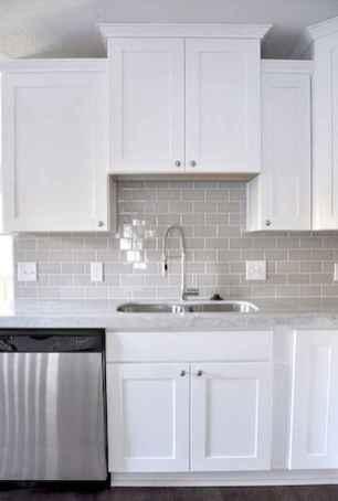 Best 100 white kitchen cabinets decor ideas for farmhouse style design (15)