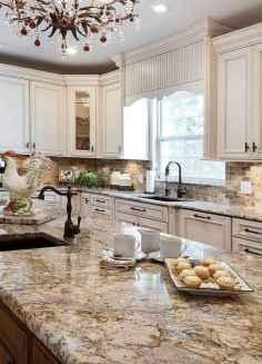 Best 100 white kitchen cabinets decor ideas for farmhouse style design (90)