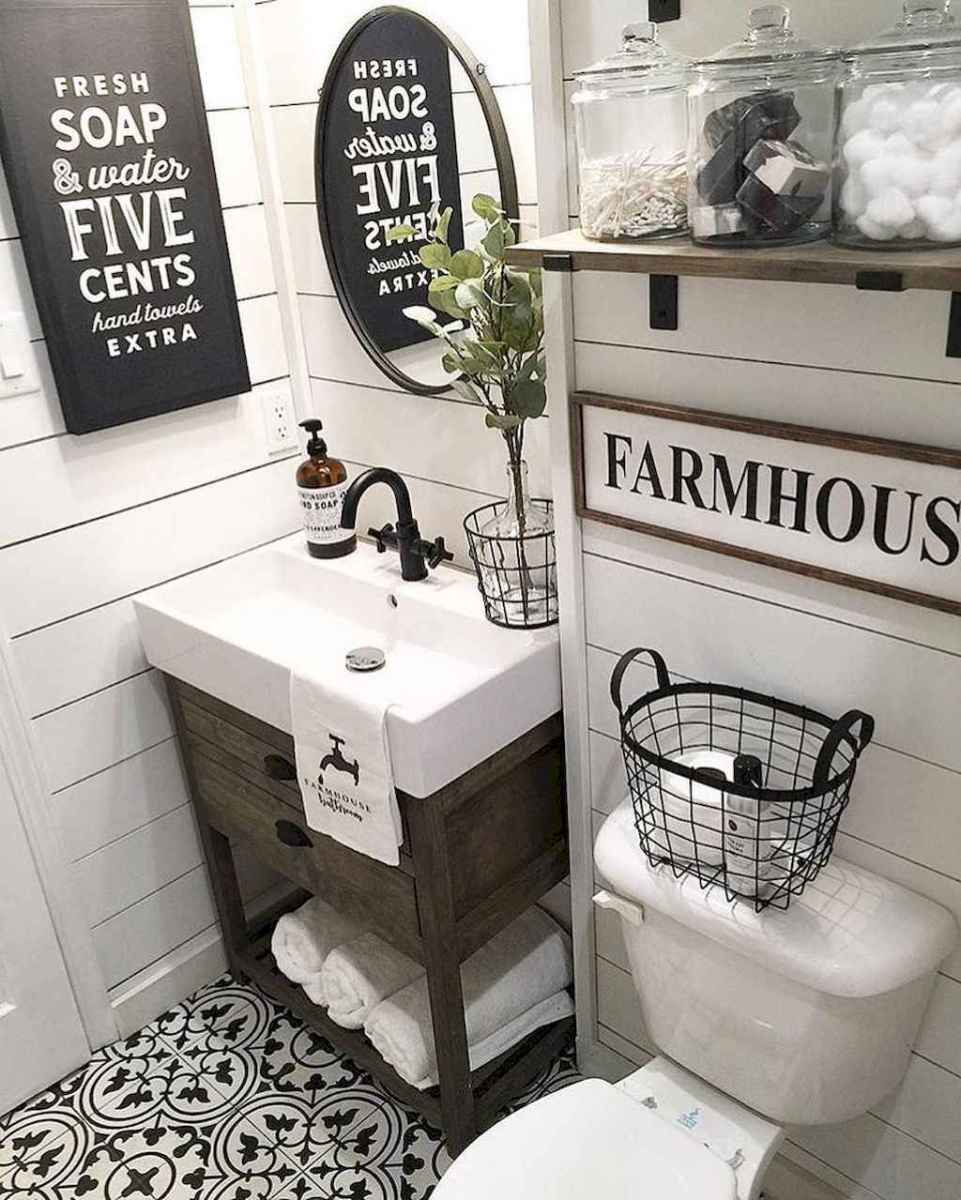 110 best farmhouse bathroom decor ideas (17)