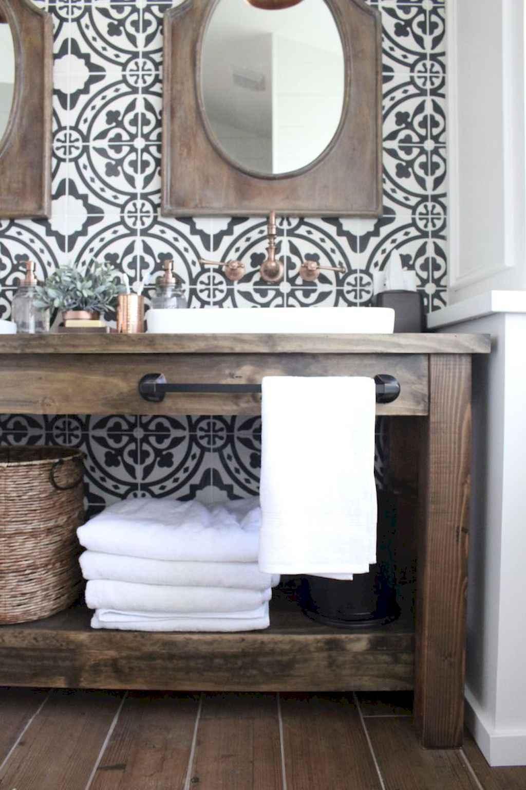 110 best farmhouse bathroom decor ideas (34)