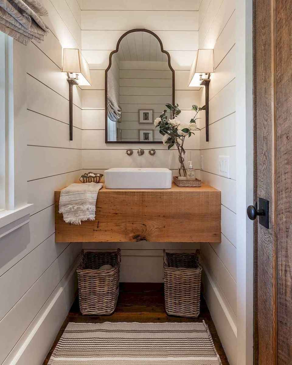 125 awesome farmhouse bathroom vanity remodel ideas (115)