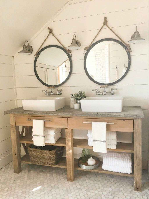125 awesome farmhouse bathroom vanity remodel ideas (120)