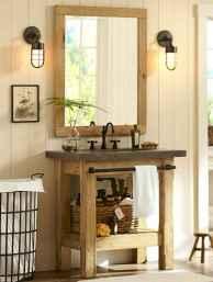 125 awesome farmhouse bathroom vanity remodel ideas (45)