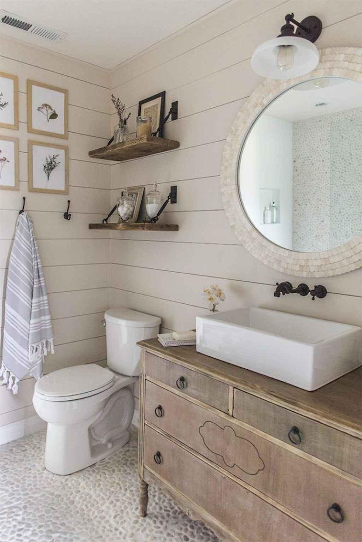 125 awesome farmhouse bathroom vanity remodel ideas (30)