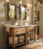 125 awesome farmhouse bathroom vanity remodel ideas (54)