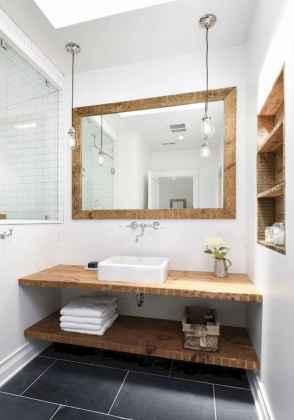 125 awesome farmhouse bathroom vanity remodel ideas (78)