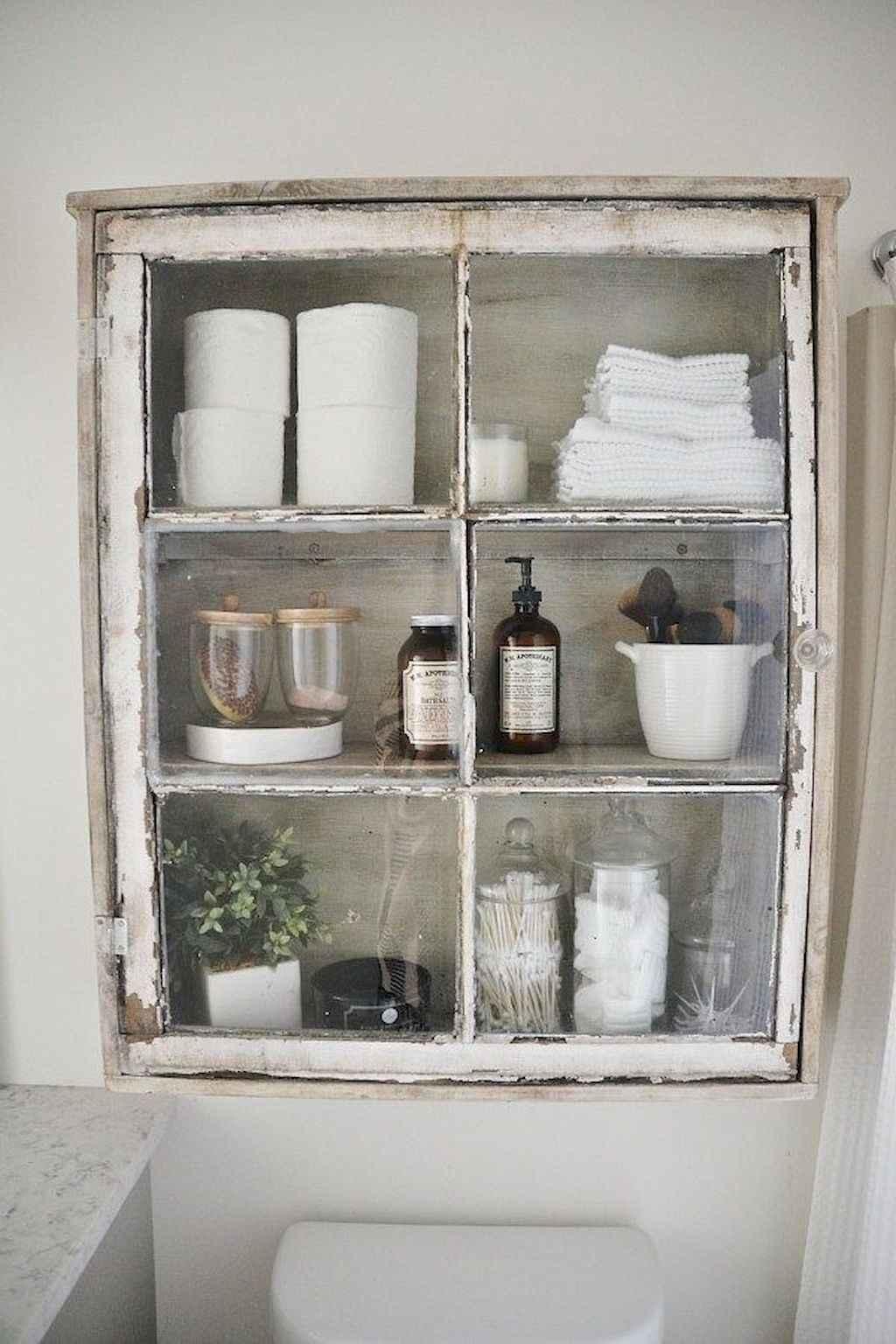 125 awesome farmhouse bathroom vanity remodel ideas (80)