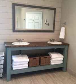 125 awesome farmhouse bathroom vanity remodel ideas (97)