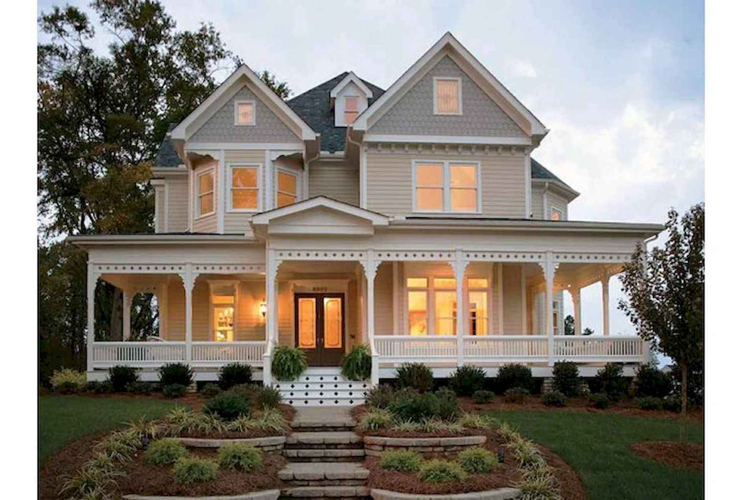 80 awesome victorian farmhouse plans design ideas (49)