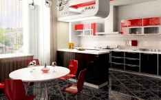 Best 40 colorful kitchen cabinet remodel ideas for first apartment (12)