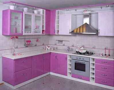 Best 40 colorful kitchen cabinet remodel ideas for first apartment (31)