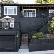 35 handsome black house exterior decor ideas (12)