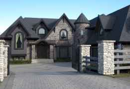 35 handsome black house exterior decor ideas (24)