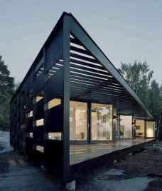 35 handsome black house exterior decor ideas (28)