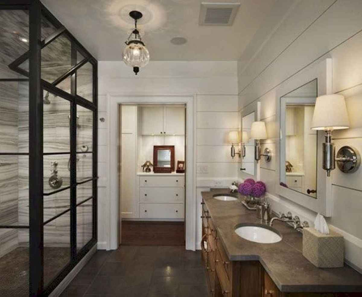 Top 25 farmhouse master bathroom decor ideas (20)