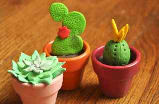 25 easy to try diy polymer clay cactus design ideas (7)