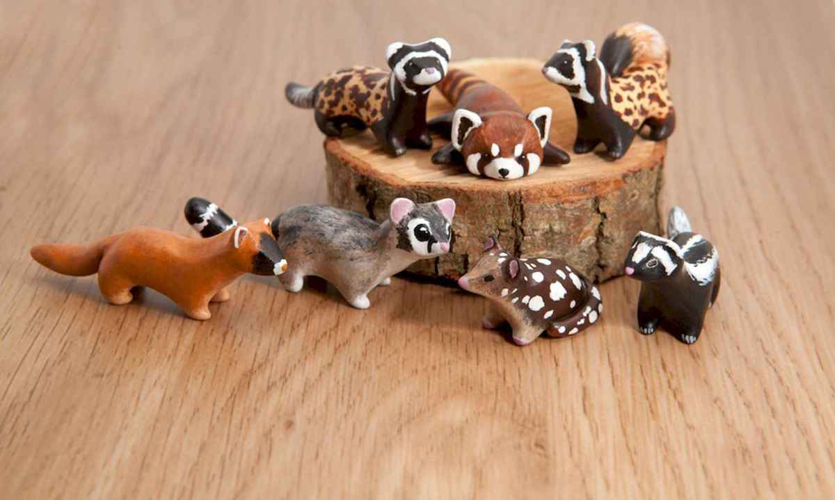 55 easy to try diy polymer clay animals design ideas (14)