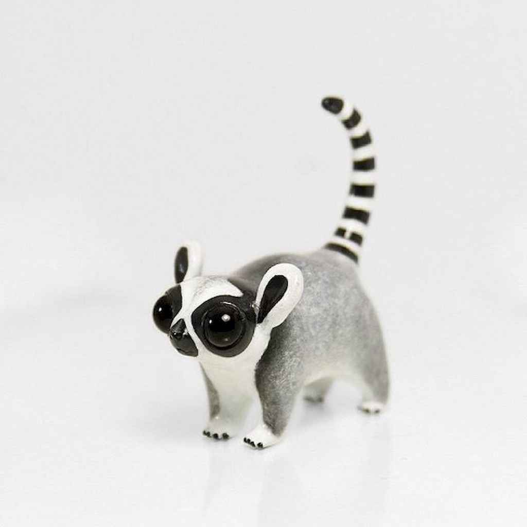 55 easy to try diy polymer clay animals design ideas (18)