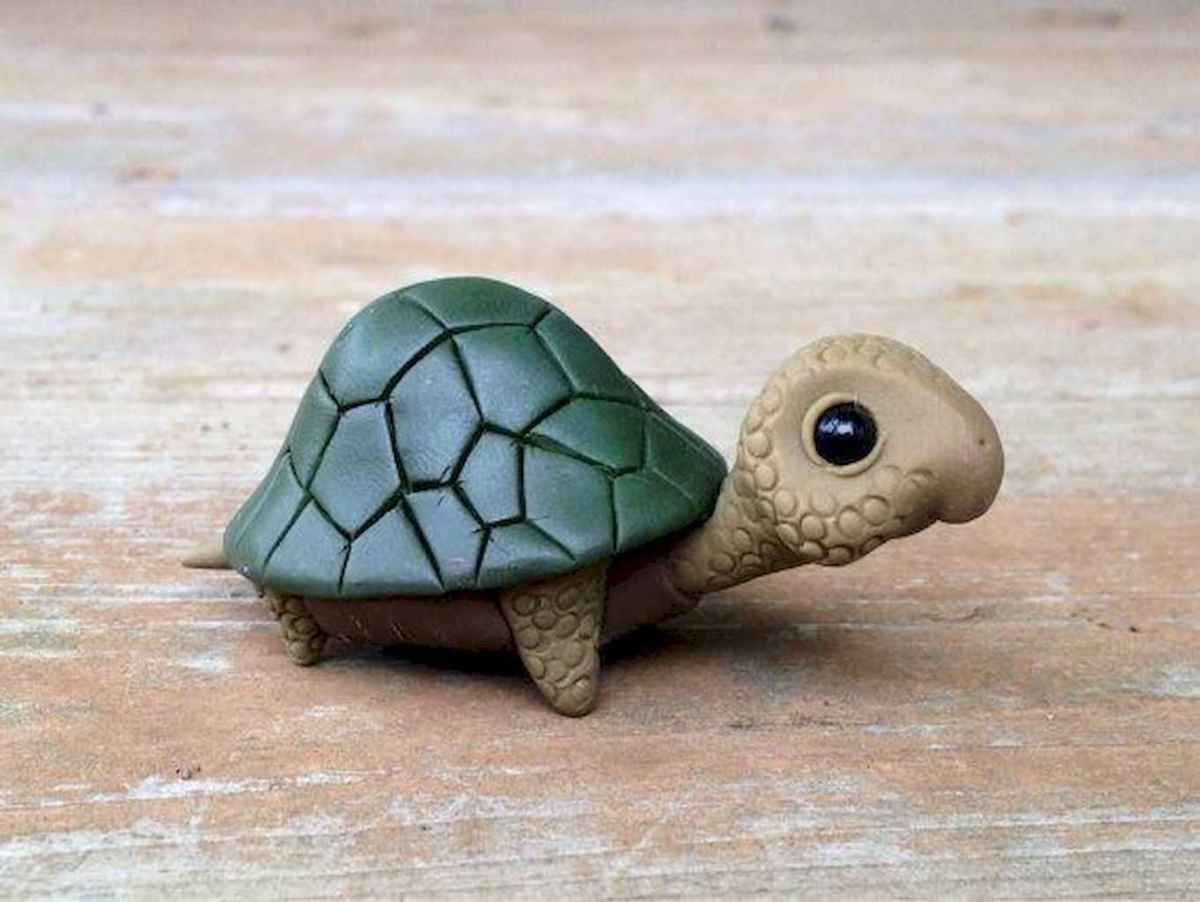 55 easy to try diy polymer clay animals design ideas (25)
