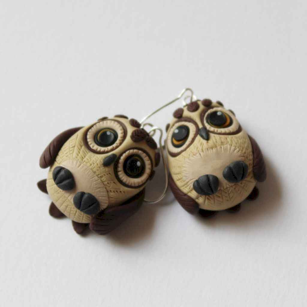 55 easy to try diy polymer clay animals design ideas (27)