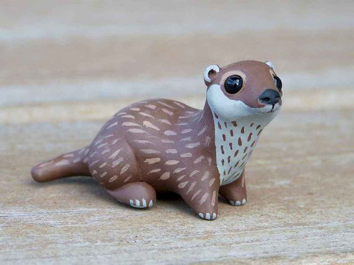 55 easy to try diy polymer clay animals design ideas (3)