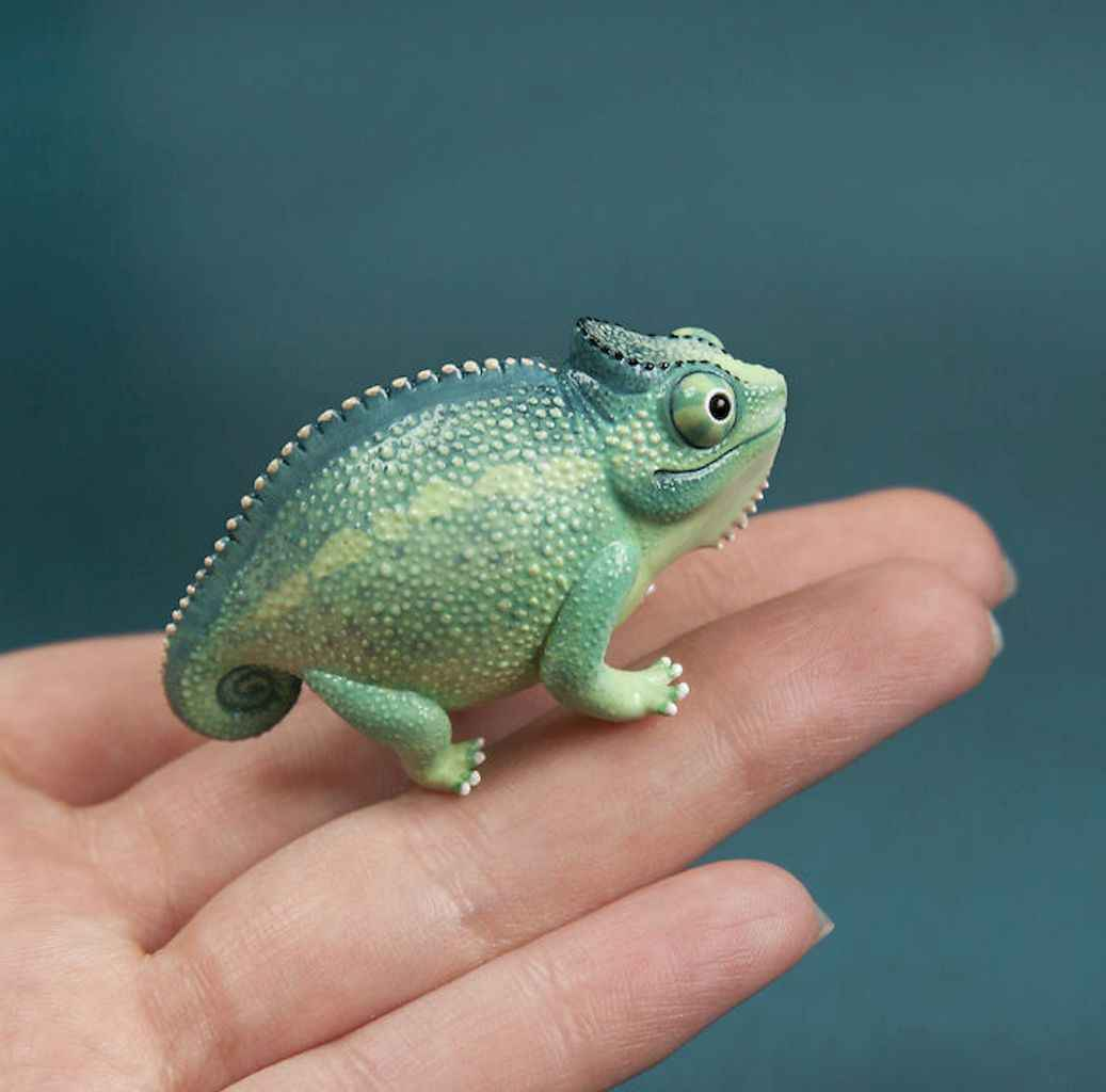 55 easy to try diy polymer clay animals design ideas (35)