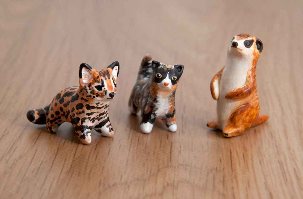 55 easy to try diy polymer clay animals design ideas (47)