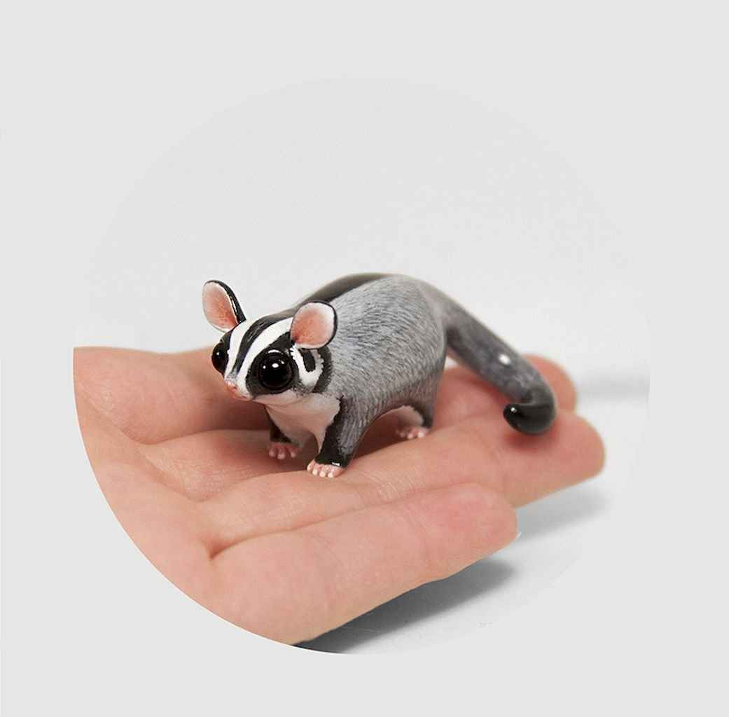 55 easy to try diy polymer clay animals design ideas (54)