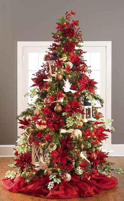 100 beautiful christmas tree decorations ideas (16)